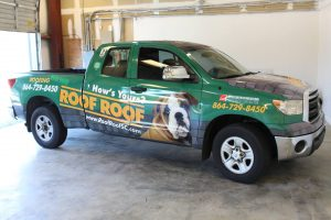 Duncan Vehicle Wraps promotional work truck vehicle wrap 300x200
